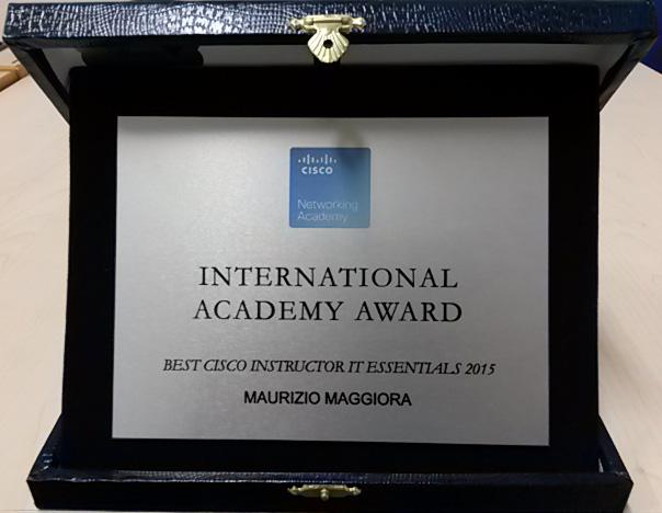 Cisco Academy Award 2016 - Maggiora - targa