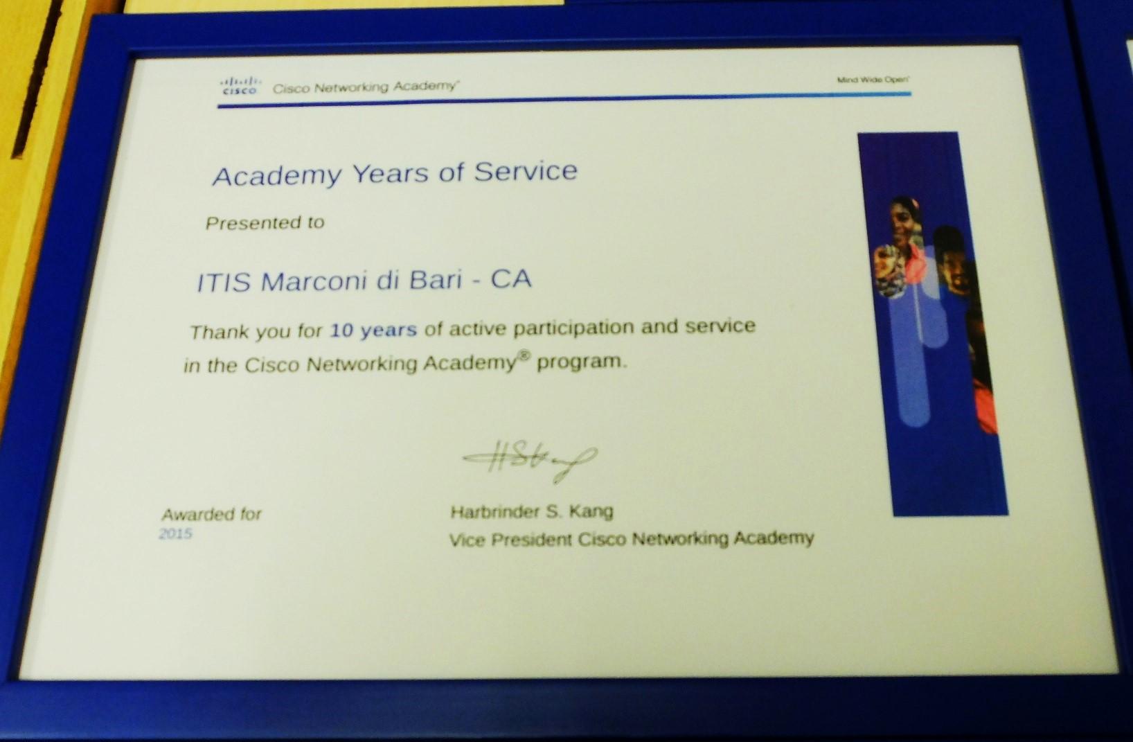 Cisco Academy Award 2016 - Marconi